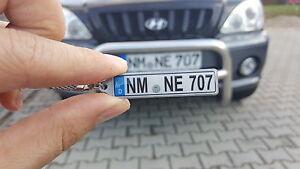 Schlüsselanhänger reflektierend  mit KFZ-Kennzeichen für Ihr Auto