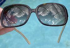 Kate Spade Lulu/S 55-16-130 Oversized Tortoise Plastic Gold Glitter Warped Lens