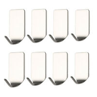 8pcs Sticky Self-adhesive Coat Towel Clothes Hanger Hook Holder Wall Door