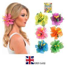 1 X Hibiscus Flower Hair Clip Hawaiian Hula Fancy Dress Costume Beach Party UK