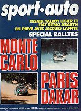 SPORT AUTO 240 1982 FIAT RITMO ABARTH 125 TC LIGIER JS17 RAC RALLY BILAN 81 F1 F