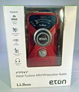 ETON L.L. Bean FRX1 Hand Turbine Crank AM FM Weather Emergency Radio Red #284003