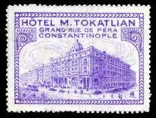 Turkey Poster Stamp - Constantinople - Hotel M. Tokatlian