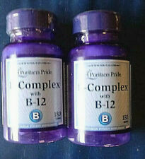 (2) Bottles B-Complex with B-12 Puritans Pride  180x2=360 total tablets