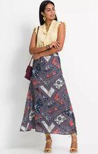 Bodyflirt @ Kaleidoscope Size 22 Blue Chiffon Printed Maxi Skirt