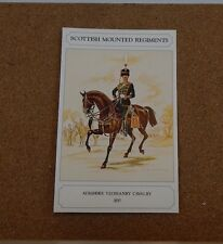 Military Uniforms Postcard Ayrshire Yeomanry Cavalry Unposted