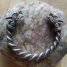 Bracelet Viking Loup WOLF en Zinc couleur Argent Antique Très Belle Finition