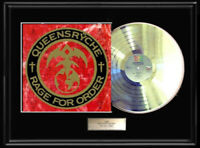 QUEENSRYCHE RAGE FOR  ORDER WHITE GOLD SILVER PLATINUM TONE RECORD LP RARE