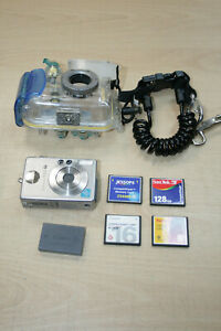 Canon Ixus V3 Camera With Underwater Case WP-DC600