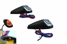 Motorbike Indicators flush mount or Fairing Carbon Look - Non LED UNIVERSAL
