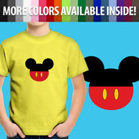Mickey Mouse Head Ears Toddler Unisex Kids Boy Girl Teen Tee Youth T-Shirt 2T~XL