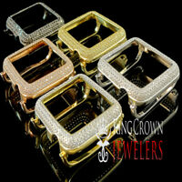 High Quality 44mm Apple Watch Bezel Series # 4 Diamond 14K Gold Tone Cover Case