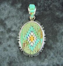 Matchstick Style Pendant Necklace in Sterling Silver, Turquoise & Oyster Shell