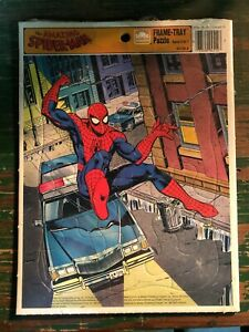 THE AMAZING SPIDER-MAN FRAME TRAY PUZZLE (1990 GOLDEN) NEW SEALED