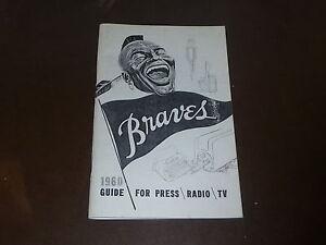 1960 MILWAUKEE BRAVES MEDIA GUIDE REPRODUCTION.  VERY NICE