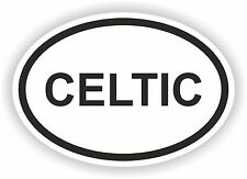 Oval Celtic Sticker Religious for Bumper Car Truck Helmet Laptop Door Surfboard