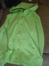 WOMENS LIME BUTTON UP HOODIE LIME COLOR MEDIUM