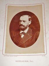 PHOTOGRAPHIE ANCIENNE Paul RISTERHUBER Lettré Strasbourg BIOGRAPHIE ALSACE 1884