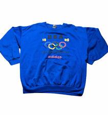 vintage 80s adidas Team USA Olympics 1988 Pullover Crewneck sweatshirt Adult XL