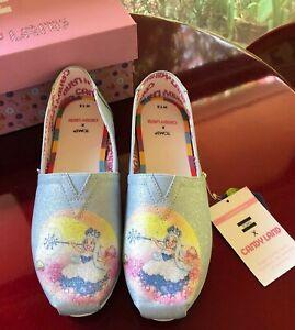 """LOVELY Tom's  """"Candy Land Glitter Frostine"""" Alpargata Shoes- Size 7 1/2  NEW"""
