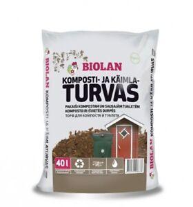 Agande Biolan Biokompost 40L(ab0.58€/l) WC TORF Kompoststreu für Trockentoilette