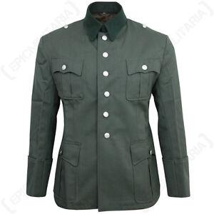 German Army Officers Gabardine Wool Tunic - WW2 Repro Heer Uniform Jacket New