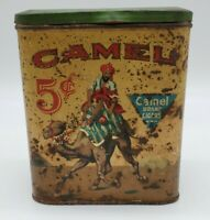 Vintage Advertising Camel Cigar 5 cent Tobacco Canister Tin Camel Brand Cigar