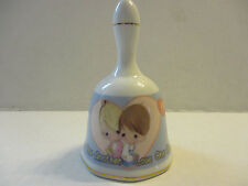 "Precious Moments Bell ""Love One Another"" Porcelain (2000) Mint Preowned"