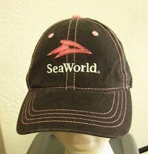 "SEA WORLD pink baseball hat SHAMU Orca Killer Whales ""Allison"" cap modern logo"