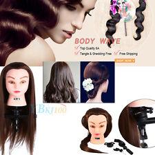 "26"" Salon Hair Style Hairdressing Practice Head Training Mannequin Doll +Holder"