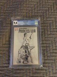 Star Wars Princess Leia #1 Variant cover 2015 Granov sketch cover CGC 9.4