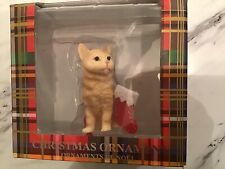 Sandicast Ornament New American Shorthair Ginger Cat House Cat New Nwt