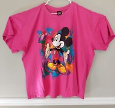 Womens 4x Mickey Unlimited Plus Size T Shirt Abstract Mickey Mouse Pink  *READ*