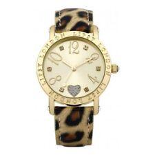 Relojes de pulsera de oro de cuero sintético