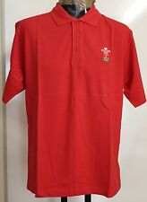 WALES RUGBY S/S RED BASIC POLO SHIRT BY REEBOK SIZE JUNIOR SMALL BRAND NEW