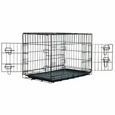 PET CRATE METAL CAGE FOR PUPPY CAT DOG TRAINING FOLDING TRAVEL CARRIER WITH TRAY