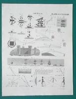 OPTICS Light PolarizationLooking Glass Unusual Refraction - 1822 Antique Print