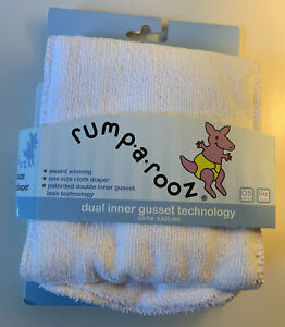 Rumparooz One Size White Snap Cloth Diaper Liner Dual Inner Gusset Technology