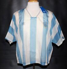 $90 New Adidas ARGENTINA Soccer Jersey #10 Layer Tee Women Medium M Striped Blue