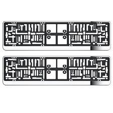 2x chrome plaque minéralogique titulaire suround pour PEUGEOT 807 1007 2007 E7 BOXER PARTNER