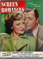 NL-047 - Screen Romances Jan 1943, Robert Young, Laraine Day, cover by Christy