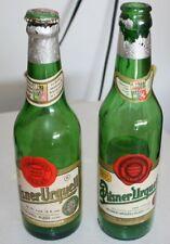 Vintage Pilsner Urquell Beer Bottle Product of Czechoslovakia 12oz, Set of 2
