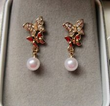 Gold Earrings Vintage Costume Jewellery (Unknown Period)