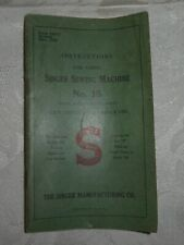 Vintage 1930 Singer Electric Sewing Machine Manual 15
