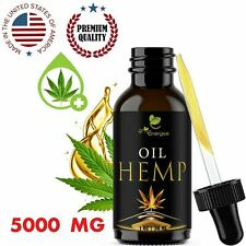 Premium Hemp Oil for Pain Relief, Stress, Sleep  5000 mg 1 OZ