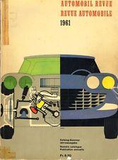 Automobil Revue Automobilrevue Katalog 1961