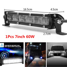 7inch 60W LED Flood Beam Work Light Bar Waterproof Off Road Truck SUV Fog Lamp