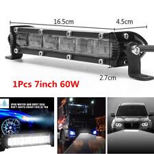 7inch 60W LED Flood Beam Work Light Bar Waterproof Off Road Truck SUV Fog Lamp
