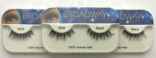 NEW LOT OF 3 BROADWAY EYES BLA19 100% HUMAN HAIR BLACK STRIP #DW EYELASHES