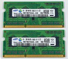 RAM 4GB (2X 2GB DDR3 PC3-10600S 1333MHz PORTATILE MEMORIA 204PIN SODIMM SAMSUNG
